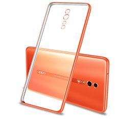Oppo Reno Z用極薄ソフトケース シリコンケース 耐衝撃 全面保護 クリア透明 H01 Oppo オレンジ