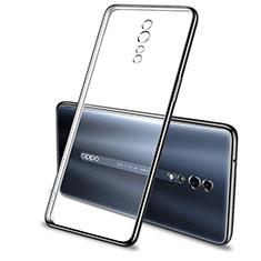 Oppo Reno Z用極薄ソフトケース シリコンケース 耐衝撃 全面保護 クリア透明 H01 Oppo ブラック