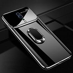 Oppo Reno Z用ハードケース プラスチック 質感もマット アンド指輪 マグネット式 A01 Oppo ブラック