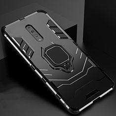Oppo Reno Z用ハイブリットバンパーケース スタンド プラスチック 兼シリコーン カバー マグネット式 Oppo ブラック