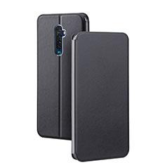 Oppo Reno2用手帳型 レザーケース スタンド カバー L03 Oppo ブラック