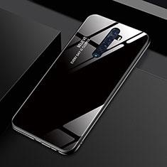 Oppo Reno2用ハイブリットバンパーケース プラスチック 鏡面 虹 グラデーション 勾配色 カバー Oppo ブラック