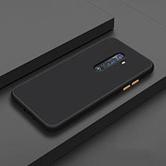 Oppo Reno2用360度 フルカバー極薄ソフトケース シリコンケース 耐衝撃 全面保護 バンパー S06 Oppo ブラック