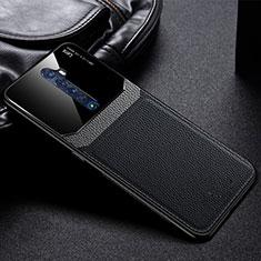 Oppo Reno2用ケース 高級感 手触り良いレザー柄 Oppo ブラック