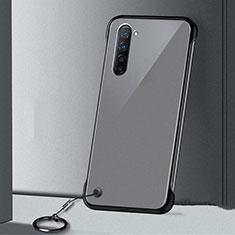 Oppo Reno3用ハードカバー クリスタル クリア透明 H01 Oppo ブラック