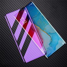 Oppo Reno3 Pro用強化ガラス フル液晶保護フィルム アンチグレア ブルーライト F02 Oppo ブラック