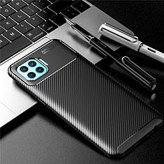 Oppo Reno4 Lite用シリコンケース ソフトタッチラバー ツイル カバー Oppo ブラック