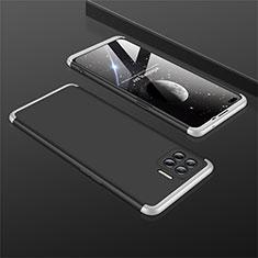 Oppo Reno4 Lite用ハードケース プラスチック 質感もマット 前面と背面 360度 フルカバー M01 Oppo シルバー・ブラック