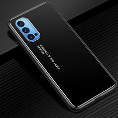 Oppo Reno4 Pro 5G用ケース 高級感 手触り良い アルミメタル 製の金属製 カバー Oppo ブラック