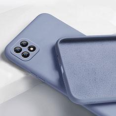 Oppo Reno4 SE 5G用360度 フルカバー極薄ソフトケース シリコンケース 耐衝撃 全面保護 バンパー Oppo ラベンダーグレー