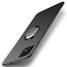 Oppo Reno4 SE 5G用ハードケース プラスチック 質感もマット アンド指輪 マグネット式 A01 Oppo ブラック