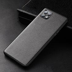 Oppo Reno4 SE 5G用ケース 高級感 手触り良いレザー柄 Oppo ブラック