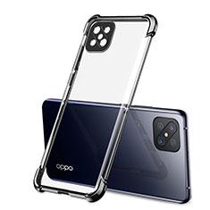 Oppo Reno4 Z 5G用極薄ソフトケース シリコンケース 耐衝撃 全面保護 クリア透明 H01 Oppo ブラック