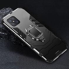 Oppo Reno4 Z 5G用ハイブリットバンパーケース プラスチック アンド指輪 マグネット式 Oppo ブラック