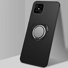 Oppo Reno4 Z 5G用極薄ソフトケース シリコンケース 耐衝撃 全面保護 アンド指輪 マグネット式 バンパー A01 Oppo ブラック