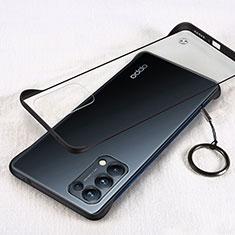 Oppo Reno5 5G用ハードカバー クリスタル クリア透明 H01 Oppo ブラック
