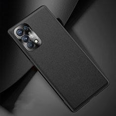 Oppo Reno5 5G用ケース 高級感 手触り良いレザー柄 S01 Oppo ブラック