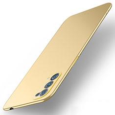 Oppo Reno5 5G用ハードケース プラスチック 質感もマット カバー M01 Oppo ゴールド