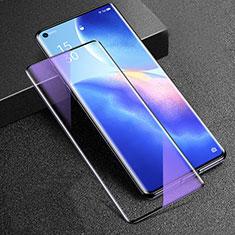 Oppo Reno5 Pro+ Plus 5G用強化ガラス フル液晶保護フィルム アンチグレア ブルーライト Oppo ブラック