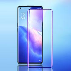 Oppo Reno5 Pro+ Plus 5G用強化ガラス フル液晶保護フィルム アンチグレア ブルーライト F02 Oppo ブラック