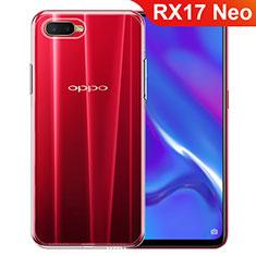 Oppo RX17 Neo用極薄ソフトケース シリコンケース 耐衝撃 全面保護 クリア透明 カバー Oppo クリア