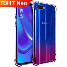 Oppo RX17 Neo用極薄ソフトケース シリコンケース 耐衝撃 全面保護 クリア透明 T02 Oppo クリア