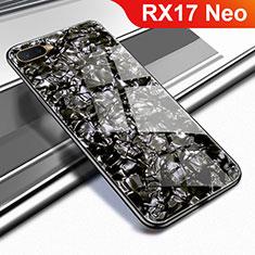 Oppo RX17 Neo用ハイブリットバンパーケース プラスチック 鏡面 カバー Oppo ブラック