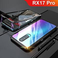 Oppo RX17 Pro用ケース 高級感 手触り良い アルミメタル 製の金属製 バンパー 鏡面 カバー Oppo ブラック