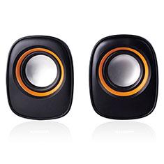Huawei Ascend G520用Bluetoothミニスピーカー ポータブルで高音質 ポータブルスピーカー K04 ブラック