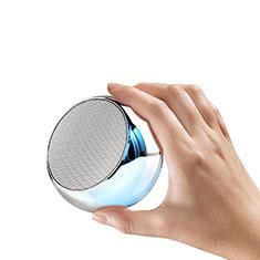 Bluetoothミニスピーカー ポータブルで高音質 ポータブルスピーカー S03 シルバー