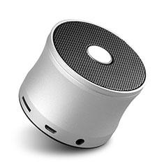Bluetoothミニスピーカー ポータブルで高音質 ポータブルスピーカー S04 シルバー