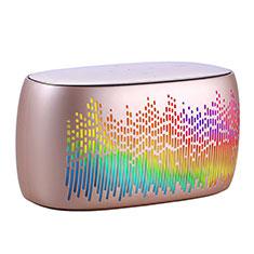 Bluetoothミニスピーカー ポータブルで高音質 ポータブルスピーカー S06 ゴールド