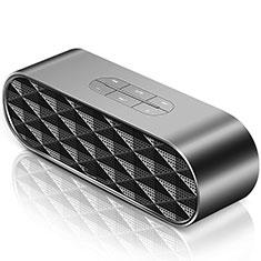 Vivo Y12s用Bluetoothミニスピーカー ポータブルで高音質 ポータブルスピーカー S08 ブラック