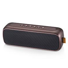 Vivo Y12s用Bluetoothミニスピーカー ポータブルで高音質 ポータブルスピーカー S09 ブラウン
