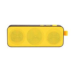 Vivo Y12s用Bluetoothミニスピーカー ポータブルで高音質 ポータブルスピーカー S12 イエロー