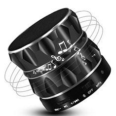 Vivo Y12s用Bluetoothミニスピーカー ポータブルで高音質 ポータブルスピーカー S13 ブラック