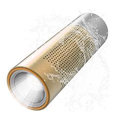 Bluetoothミニスピーカー ポータブルで高音質 ポータブルスピーカー S15 ゴールド