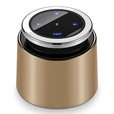 Huawei Nova 3e用Bluetoothミニスピーカー ポータブルで高音質 ポータブルスピーカー S26 ゴールド