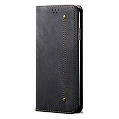 Realme 5 Pro用手帳型 布 スタンド Realme ブラック