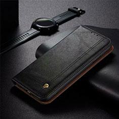 Realme 5 Pro用手帳型 レザーケース スタンド カバー Realme ブラック