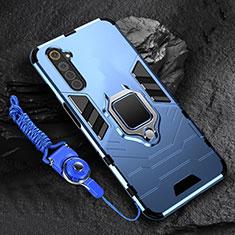 Realme 6用ハイブリットバンパーケース プラスチック アンド指輪 マグネット式 Realme ネイビー