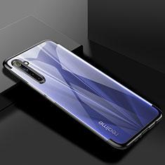 Realme 6用極薄ソフトケース シリコンケース 耐衝撃 全面保護 クリア透明 H01 Realme ブラック
