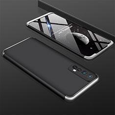 Realme 7用ハードケース プラスチック 質感もマット 前面と背面 360度 フルカバー M01 Realme シルバー・ブラック