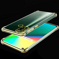 Realme 7i用極薄ソフトケース シリコンケース 耐衝撃 全面保護 クリア透明 H01 Realme ゴールド