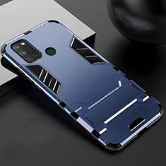 Realme 7i用ハイブリットバンパーケース スタンド プラスチック 兼シリコーン カバー Realme ネイビー