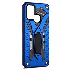 Realme 7i用ハイブリットバンパーケース スタンド プラスチック 兼シリコーン カバー A02 Realme ネイビー