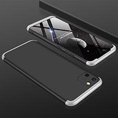 Realme C11用ハードケース プラスチック 質感もマット 前面と背面 360度 フルカバー M01 Realme シルバー・ブラック