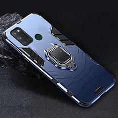 Realme C17用ハイブリットバンパーケース プラスチック アンド指輪 マグネット式 Realme ネイビー