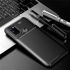 Realme C17用シリコンケース ソフトタッチラバー ツイル カバー Realme ブラック