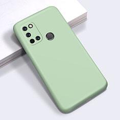 Realme C17用360度 フルカバー極薄ソフトケース シリコンケース 耐衝撃 全面保護 バンパー Realme グリーン
